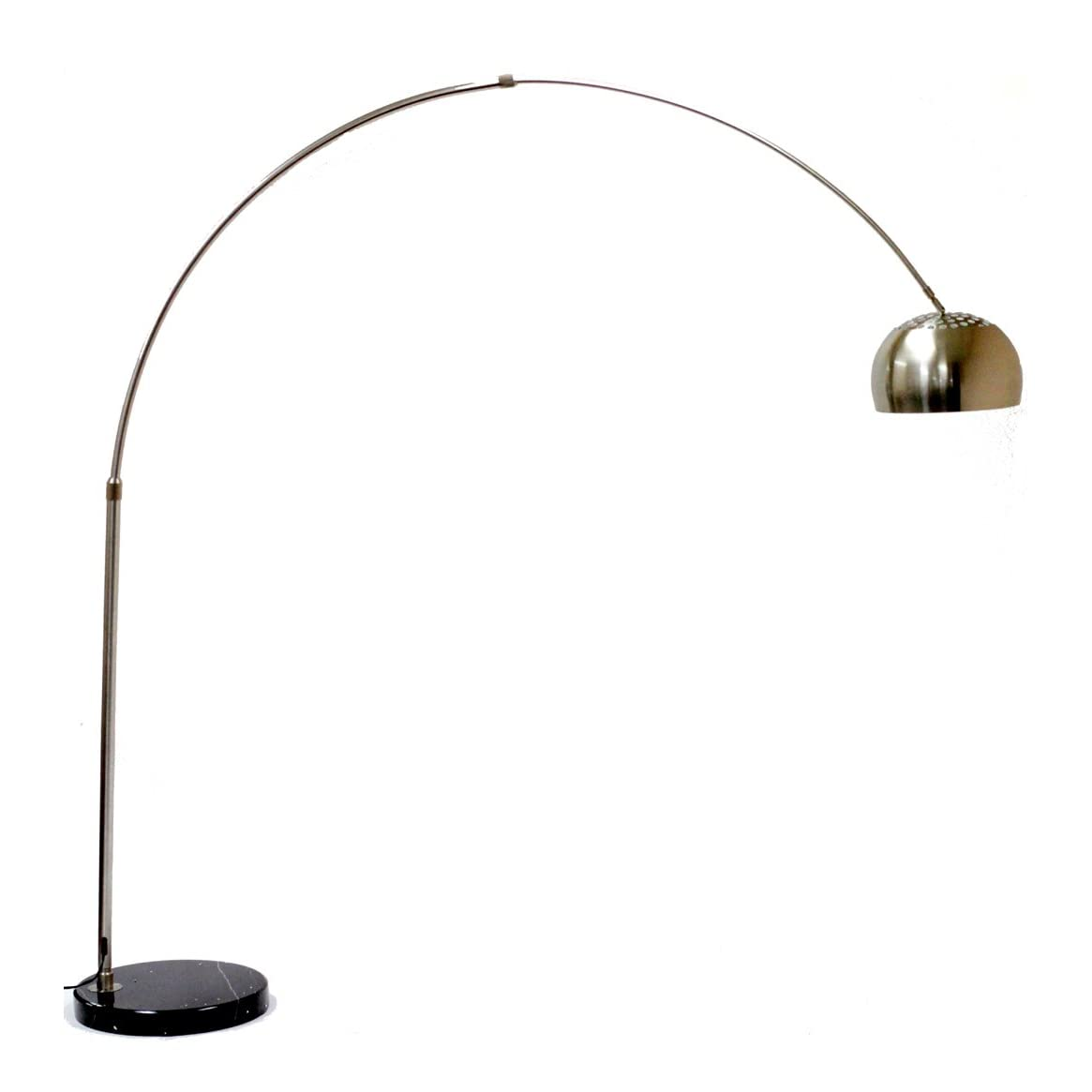 Arco style lamp with black round base modern lamp new ebay - Arco floor lamp reproduction ...