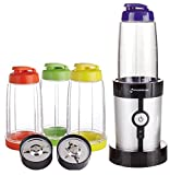 GForce GF-P1546-1029 15 Piece Set Mini Blender 220 Watts with Travel Lids and Cups