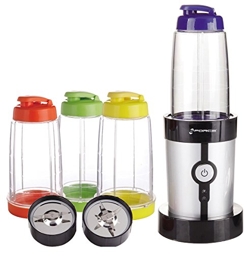Big Save! GForce GF-P1546-1029 15 Piece Set Mini Blender 220 Watts with Travel Lids and Cups