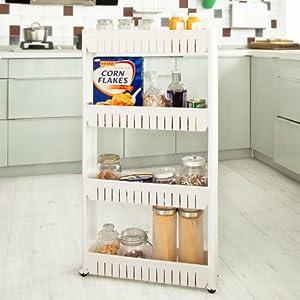Sobuy scaffale carrellino salvaspazio carrellino per - Scaffale per cucina ...