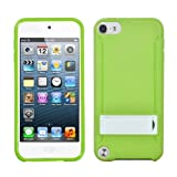 MYBAT Unique Kickstand Protective Case for iPod touch 5 (Solid White/Solid Green)