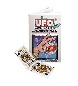 Magic UFO Whirling Card Magic Trick and Book Set