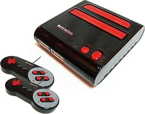 Retro-Bit Retro Duo Twin Video Game System NES & SNES Black/Red