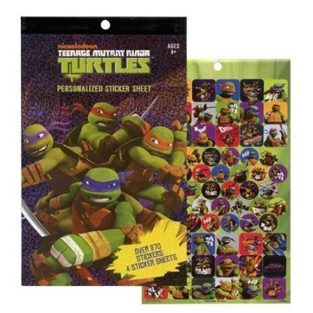 Teenage Mutant Ninja Turtles 4 Sheet Sticker Book with Over 270 Stickers