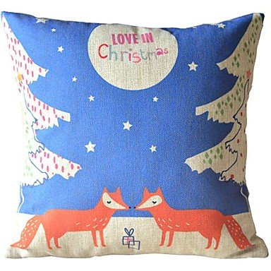 UPC 6352483684111 Mingming 2 Christmas Small Fox Decorative Pillow with Insert - The world s ...
