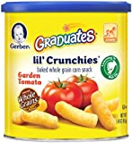 Gerber Graduates Lil Crunchies, Garden Tomato, 1.48-Ounce Canisters (Pack of 6)