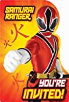 Power Rangers Samurai Invitations Party Accessory