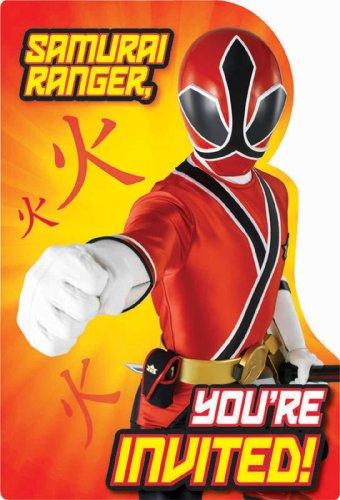 Power Rangers Samurai Invitations w/ Envelopes (8ct)