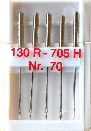 5 Nähmaschinennadeln Universal Nr.70 Flachkolben 130R/705H für Nähmaschine, 0098