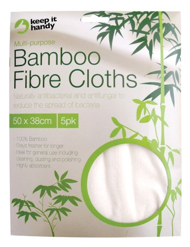 Keep-it Handy 100% Bamboo Fibre Cloths x 5 (Pack of 12)