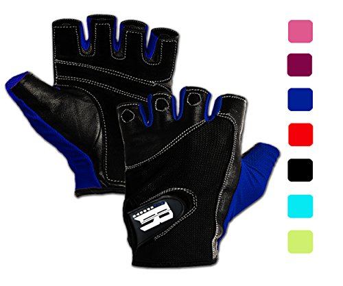 Gym Gloves For Powerlifting,Crossfit, Weight Training, Biking, Cycling,Crossfit Equipment Premium Quality Weights Lifting Glove For Women w/ Washable -Gloves For Callus And Blister Protection Blue M (True Blue Gloves compare prices)