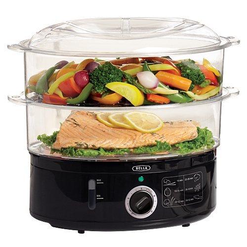 Bella 13872 Food Steamer, Black Home & Kitchen front-478029