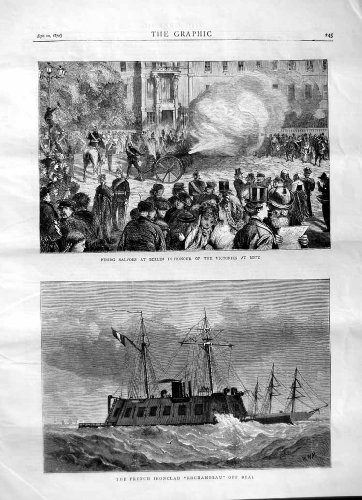 1870 French Ironclad Ship Rochambeau Deal Metz Berlin