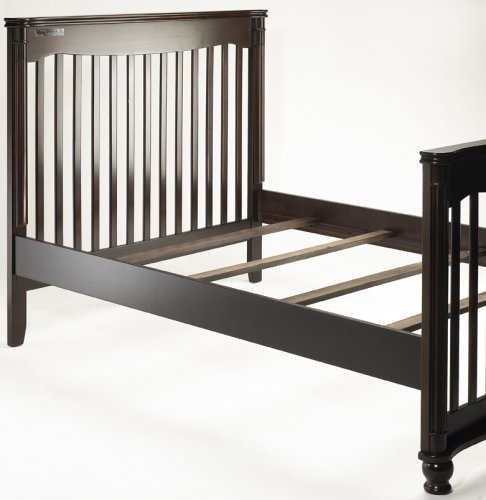 Sorelle adult bed rails and slats espresso furniture for Cradle bed for adults