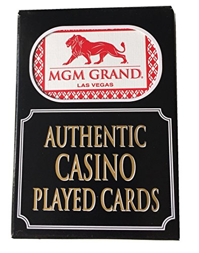 4 x Jeux MGM Grand Las Vegas Jeu Casino Poker cartes