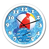 Springfield 98001 Beach Ball Clock with Thermometer