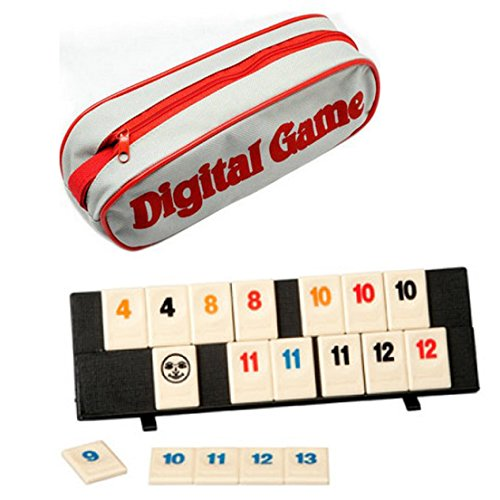 Travel Rummy with 104 tiles, 2 joker tiles with 4 boards for 4 players with a strong Travel bag