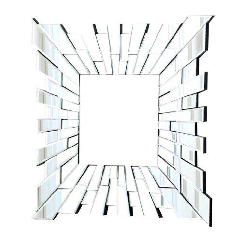 Abbyson Living London Square Wall Mirror, Small front-157377