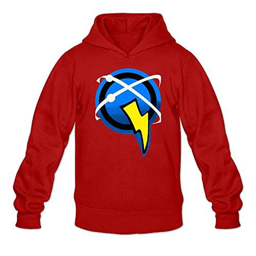 Ratchet & Clank Captain Qwark Symbol Men's Long Sleeve Hooded Red US Size XXL