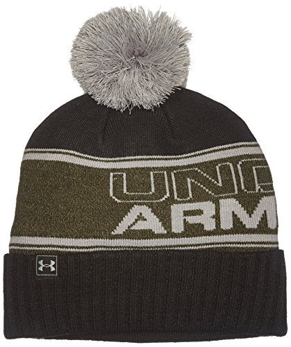 Under Armour-Berretto con pompon uomo Artillery Green