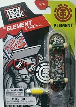 2016 Tech Deck TD Element Series 2 [4/6] - Element Nyjah Houston Design Finger Skateboard with Display Stand