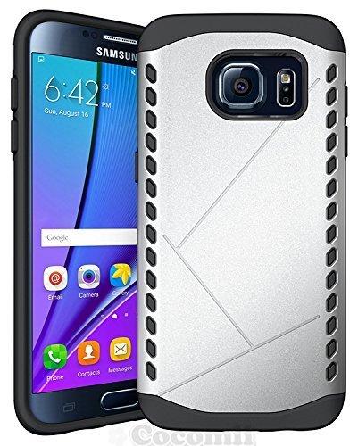Galaxy S7 Edge Case, Cocomii® [HEAVY DUTY] Shield Case *NUOVO* [ULTRA VULCAN ARMATURA] Premium Resistente Agli Urti Cuscino Bumper Case [DEFENDER MILITARI] Corpo Robusto Ibrido A Doppio Strato Coperchio Di Protezione Cover Bumper Case [COCOMII GARANZIA] ::: La Migliore Protezione Contro Le Cadute E Gli Urti Per Il Vostro Samsung Galaxy S7 Edge ::: ★★★★★ (Silver)