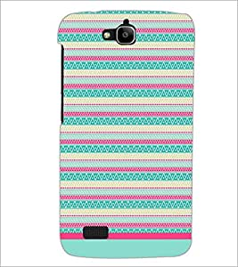 PrintDhaba Tribal pattern D-1770 Back Case Cover for HUAWEI HONOR HOLLY (Multi-Coloured)