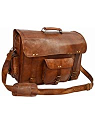 HIDE 1858 TM Genuine Leather Messenger Bag Dark Tan