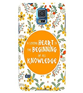 PRINTVISA Quotes Life Case Cover for Samsung Galaxy S5