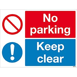 no parking keep clear sign  high quality print and