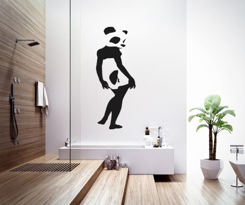 Housewares Wall Vinyl Decal Cute Panda Bear Woman Animals People Interior Home Art Decor Kids Nursery Removable Stylish Sticker Mural Unique Design For Any Room front-987633