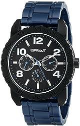 Sprout Men's ST/7006BKNV Multi-Function Tree Bark Dial Navy Corn Resin Bracelet Watch