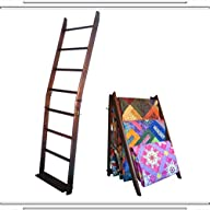 The LadderRack It's 2 Quilt Racks in 1! (7 Rung/24″ Model/American English)