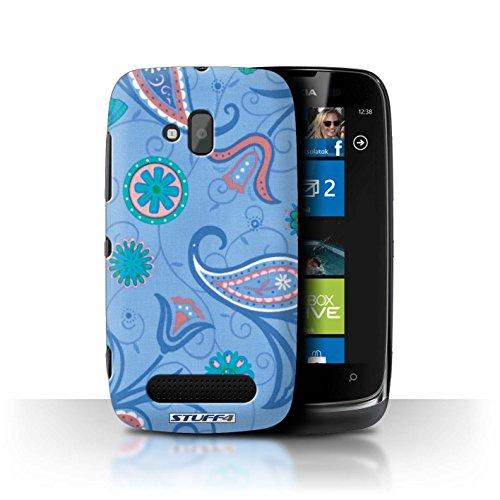 Stuff4 Hülle / Hülle für Nokia Lumia 610 / Blau/Rosa Muster / Frühlingszeit Kollektion