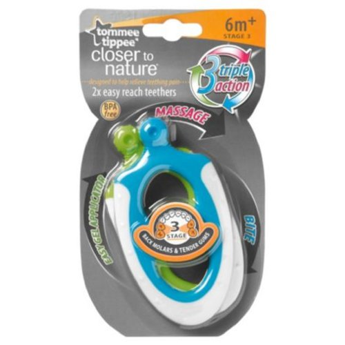 Tommee Tippee Closer To Nature Stage 3 Easy Reach Teether 6M+ (Boy) front-820149