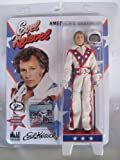 """Evel Knievel 8"""" Action Figure with White Jumpsuit, Cane, & Helmet!"""