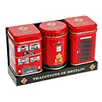 Phone Box, Post Box and Bus Tea Tin Set