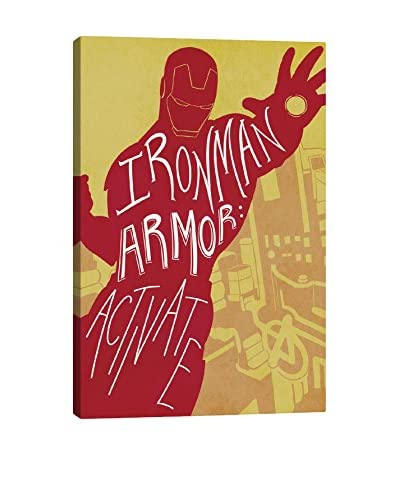 Avengers Assemble Character Quotes: Ironman Armor: Activate Gallery-Wrapped Canvas Print