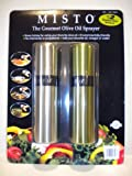 Misto The Gourment Olive Oil Sprayer (Silver & Olive Green / Pack of 2)