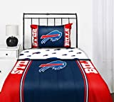 Buffalo Bills NFL Queen Comforter & Sheet Set (5 Piece Bed In A Bag) at Amazon.com