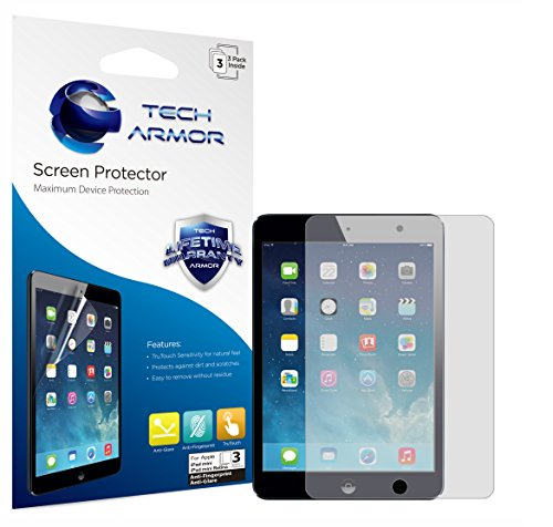 Tech Armor Apple iPad mini 3 / iPad mini 2 / iPad mini Anti-Glare/Anti-Fingerprint (Matte) Screen Protectors [3-Pack] Lifetime Warranty