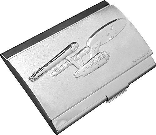 Star Trek NCC 1701 Card Case, Silver