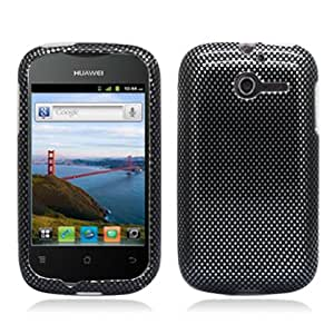 Aimo HWM866PCIM006 Durable Hard Snap-On Case for Huawei Ascend Y M866 - 1 Pack - Retail Packaging - Carbon Fiber