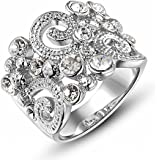 ROXI 18K Platitum Plated Clouds Wedding Ring for Women Best Gifts Idea (Available in Sizes 6 7 8)