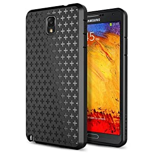 Galaxy Note 3 Case, Spigen® Samsung Galaxy Note 3 Case Protective [Ultra Fit] [Bounce Black] Premium Soft TPU Case for Galaxy Note III - ECO-Friendly Packaging - Bounce Black (SGP10443)