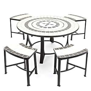 les étincelles, 4 chaises avec coussins et housse: Jardin