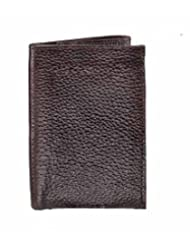 RL W 20 - Br Brown Leather Trifold Wallet For Men
