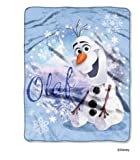Disney Frozen Olaf --Disney® Frozen Throw Winter Olaf 40 x 50 Silk Touch Throw - Blankets and throws Microfiber with Big Pictures Olaf Frozen in bold, vibrant colors -Cuddle up with your favorite Frozen characters -Guaranteed!