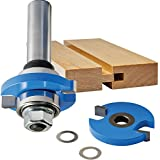 "Rockler Tongue and Groove Router Bit, 3/8"" Cutter Width X 1/4"" Cutter Height, 1/4"" Shank"