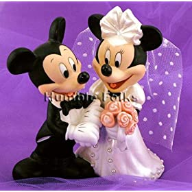 Mickey and Minnie Mouse Disney Wedding Cake Topper